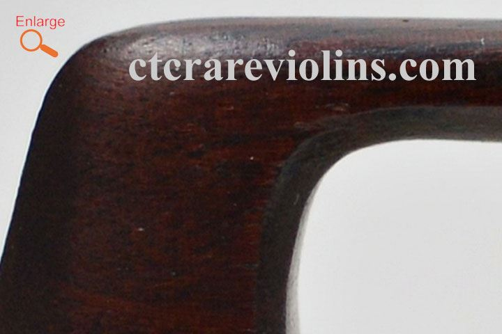 "Poirson, D. ""Justin"" c.1880 French violin bow"
